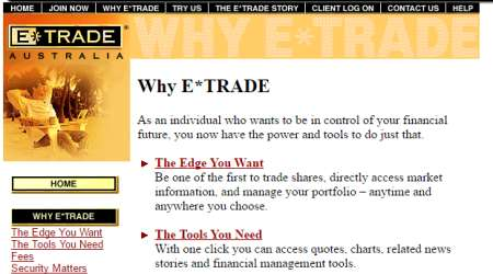 E trade forex australia